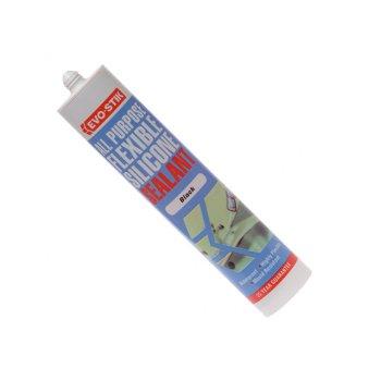 Evo-Stik 112872 All Purpose Flex Silicone Sealant Black C20
