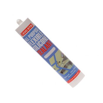 Evo-Stik 112896 All Purpose Flex Silicone Sealant Clear C20