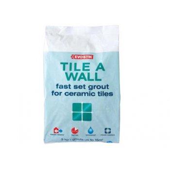 Evo-Stik Tile A Wall Fast Set Grout White 500g