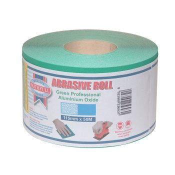 Faithfull Aluminium Oxide Paper Roll Green 115 mm x 50m 120g
