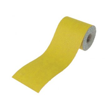 Faithfull Aluminium Oxide Paper Roll Yellow 115mm x 5m 120g