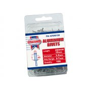Faithfull Aluminium Rivets 3.2mm x 10mm Medium Pre-Pack of 100