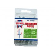 Faithfull Aluminium Rivets 4.8mm x 11mm Medium Pre-Pack of 50