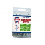 Faithfull Aluminium Rivets 4.8mm x 8mm Short Pre-Pack of 50