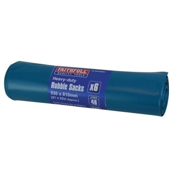 Faithfull Blue Heavy-Duty Rubble Sacks (6)