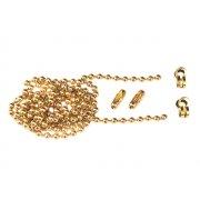 Faithfull Brass Ball Chain Kit 1m Polished Brass