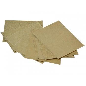Faithfull Cork Block Glasspaper Sanding Sheets Assorted (Pack 10) -No. 742510