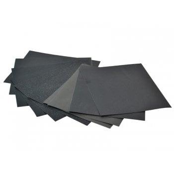 Faithfull Cork Block Wet & Dry Sanding Sheets Assorted (Pack 10) -No.