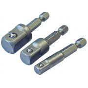Faithfull Hex to Square Drive Adaptor Set of 3