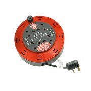 Faithfull Power Plus Cable Reel 230 Volt 10 Metre 10 Amp 4 Socket
