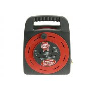 Faithfull Power Plus Easy Reel Cable Reel 25 Metre 13 Amp With 2 Socket 240 Volt