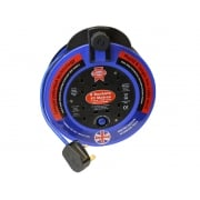 Faithfull Power Plus Fast Rewind 4 Socket Cable Reel 10 Metre 3000 Watt 13 Amp