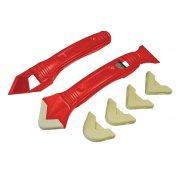 Faithfull Slicone Scraper Kit Two Piece