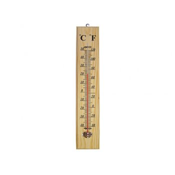Faithfull Thermometer Wall Wood 400mm