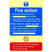 Fire action procedure - PHO (200 x 300mm)