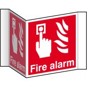 Fire alarm (Projection sign) - RPVC (200mm face)