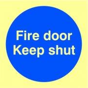Fire door Keep shut - PHO (100 x 100mm)