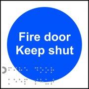 Fire door Keep shut - Taktyle (100 x 100mm) (Pack of 10)