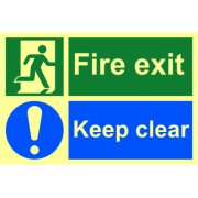 Fire exit Keep clear - PHO (300 x 200mm)