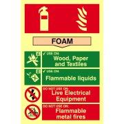 Fire extinguisher composite - Foam - PHO (200 x 300mm)