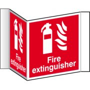 Fire extinguisher (Projection sign) - RPVC (200mm face)