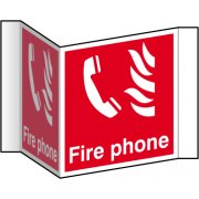 Fire phone (Projection sign) - RPVC (200mm face)
