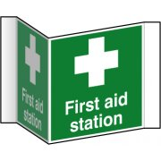 First aid station (Projection sign) - RPVC (200mm face)