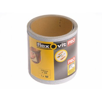 Flexovit High Performance Sanding Roll 115mm x 50m Medium 80g