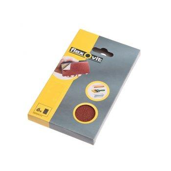 Flexovit Hook & Loop Sanding Block Refill Kit Medium 80g (6)