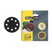Flexovit Hook & Loop Sanding Discs 125mm Assorted (Pack of 6)