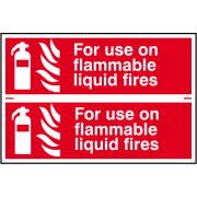 For use on all flammable liquid fires - PVC (300 x 200mm)