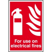 For use on electrical fires - PVC (200 x 300mm)