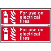 For use on electrical fires - PVC (300 x 200mm)
