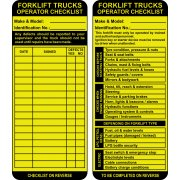 Forklift Tag Inserts (Pack of 10)