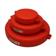 Gate Valve Lockout - Red (127 - 165mm)
