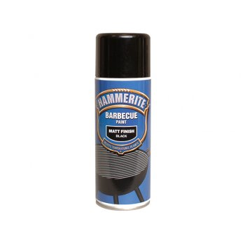 Hammerite BBQ Paint Aerosol Black Matt 400ml