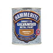 Hammerite Direct To Galvanised Metal Paint Copper 750ml
