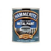 Hammerite Direct to Rust Hammered Finish Metal Paint Silver 750ml