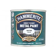 Hammerite Direct to Rust Satin Finish Metal Paint White 250ml