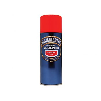 Hammerite Direct to Rust Smooth Finish Aerosol Red 400ml
