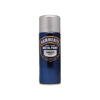 Hammerite Direct to Rust Smooth Finish Aerosol Silver 400ml