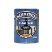 Hammerite Direct to Rust Smooth Finish Metal Paint Black 5 Litre
