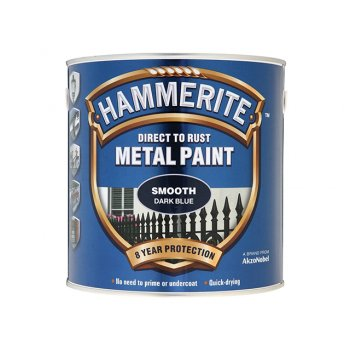 Hammerite Direct to Rust Smooth Finish Metal Paint Dark Blue 2.5 Litre