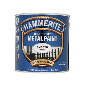 Hammerite Direct to Rust Smooth Finish Metal Paint White 2.5 Litre