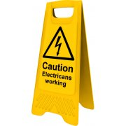 Heavy Duty A-Board - Caution Electricians working