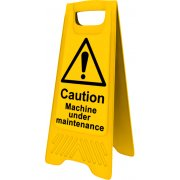 Heavy Duty A-Board - Caution Machine under maintenance