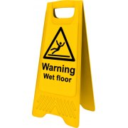 Heavy Duty A-Board - 'Warning Wet Floor'