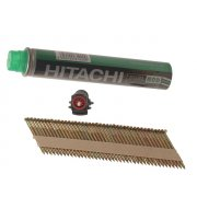 Hitachi 3.1 x 90mm Hot Dipped Galvanised Smooth Clipped Head Nail & Fuel (2200)