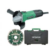 Hitachi G12SSCD Grinder 115mm with Diamond Blade & Case 110 Volt