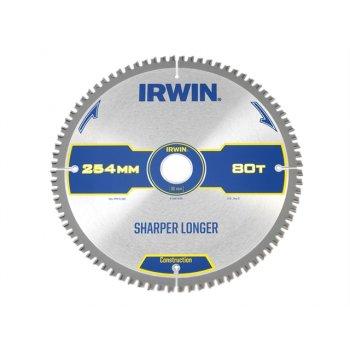 IRWIN Construction Circular Saw Blade 254 x 30mm x 80T ATB/Neg M